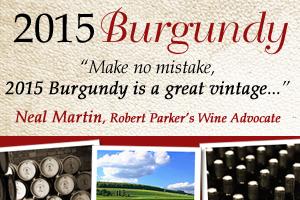 Burgundy 2015 En Primeur