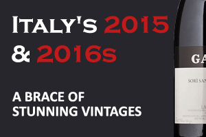 Italy 2015 & 2016 -  A brace of stunning vintages